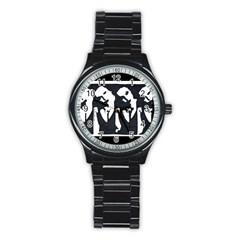 Subtle Change Sport Metal Watch (black) by JacklyneMae