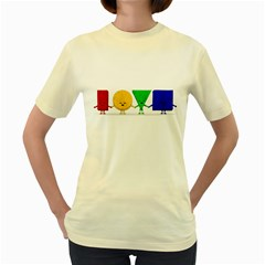 LOVE  Womens  T-shirt (Yellow) by Contest1716449