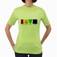 Love Womens  T Shirt (green)