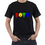 LOVE Mens' Two Sided T-shirt (Black) Front
