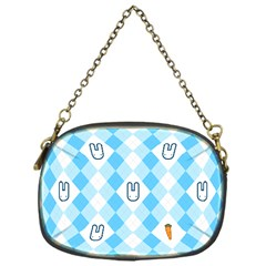 Plaid Bunny Chain Purse (one Side)