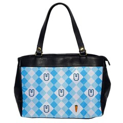 Plaid Bunny Oversize Office Handbag (one Side) by Contest1612479