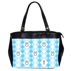 Plaid Bunny Oversize Office Handbag (two Sides) by Contest1612479