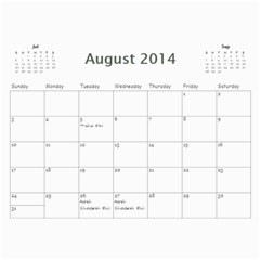 Mim By Chani Lerner   Wall Calendar 11  X 8 5  (12 Months)   R71d7p9oon78   Www Artscow Com Aug 2014