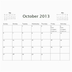 Mim By Chani Lerner   Wall Calendar 11  X 8 5  (12 Months)   R71d7p9oon78   Www Artscow Com Oct 2013
