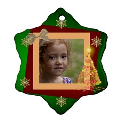 Christmas Dreams Snoflake Ornament (2 Sided) By Deborah   Snowflake Ornament (two Sides)   Nrfzaqxa62xq   Www Artscow Com Front