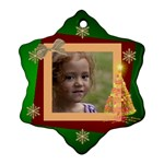 Christmas Dreams Snoflake ornament (2 sided) - Snowflake Ornament (Two Sides)