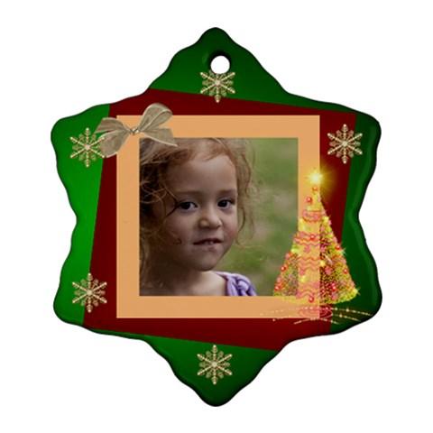 Christmas Dreams Snowflake Ornament By Deborah   Ornament (snowflake)   706exkzu7dfd   Www Artscow Com Front