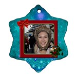 Merry Christmas Snowflake Ornament - Snowflake Ornament (Two Sides)