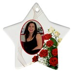 Christmas Rose Star Ornament - Ornament (Star)