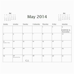 Marieorder By Janyce Schietzelt   Wall Calendar 11  X 8 5  (12 Months)   Tzoc0izt3ftv   Www Artscow Com May 2014