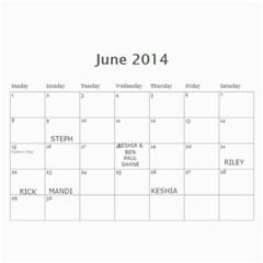Marieorder By Janyce Schietzelt   Wall Calendar 11  X 8 5  (12 Months)   Tzoc0izt3ftv   Www Artscow Com Jun 2014