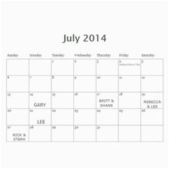 Marieorder By Janyce Schietzelt   Wall Calendar 11  X 8 5  (12 Months)   Tzoc0izt3ftv   Www Artscow Com Jul 2014