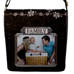 Family Flap Closure Small Messenger Bag - Flap closure messenger bag (Small)