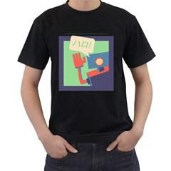 Hello! Mens' T Shirt (black)
