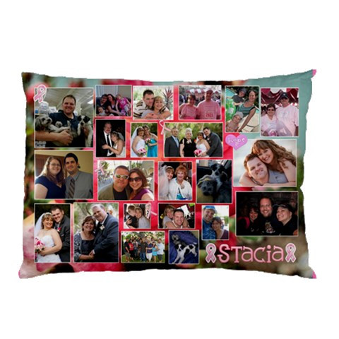 Stacias Breast Cancer Pillow By Starla Smith   Pillow Case   Uuwkfiibo157   Www Artscow Com 26.62 x18.9 Pillow Case