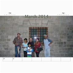 Ma Calendar By Neel Das   Wall Calendar 11  X 8 5  (18 Months)   My6uqzdn0v1w   Www Artscow Com Mar 2014