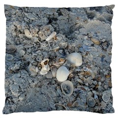 Sea Shells On The Shore Large Cushion Case (one Side) by createdbylk