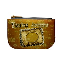 You re Awesome Flower Coin Purse By Ellan   Mini Coin Purse   37he7dtzipv8   Www Artscow Com Front