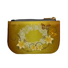 Gold Floral Butterfly Wedding Coin Purse By Ellan   Mini Coin Purse   Q32240mvl6n5   Www Artscow Com Back