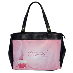 Cupcakesforall Oversize Office Handbag (one Side)