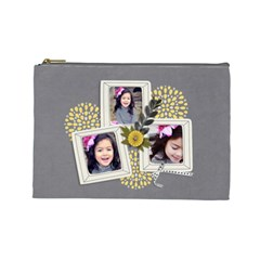 Cosmetic Bag (l)  Happiness 7 By Jennyl   Cosmetic Bag (large)   P9eysxhaw2dr   Www Artscow Com Front