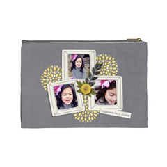 Cosmetic Bag (l)  Happiness 7 By Jennyl   Cosmetic Bag (large)   P9eysxhaw2dr   Www Artscow Com Back