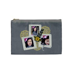 Cosmetic Bag (m)   Happiness 7 By Jennyl   Cosmetic Bag (medium)   20fblnbtx7z3   Www Artscow Com Front