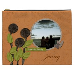 Cosmetic Bag (xxxl) My Flower Garden 2 By Jennyl   Cosmetic Bag (xxxl)   Tgglldoqsf94   Www Artscow Com Front