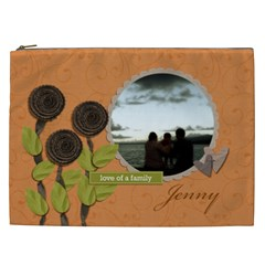 Cosmetic Bag (xxl) My Flower Garden 2 By Jennyl   Cosmetic Bag (xxl)   Ubd758yy4kr3   Www Artscow Com Front