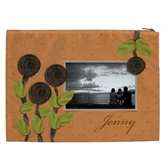 Cosmetic Bag (xxl) My Flower Garden 2 By Jennyl   Cosmetic Bag (xxl)   Ubd758yy4kr3   Www Artscow Com Back