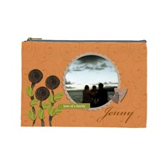 Cosmetic Bag (l) My Flower Garden 2 By Jennyl   Cosmetic Bag (large)   4yr5qpk1nvmd   Www Artscow Com Front