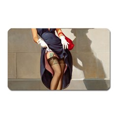 Retro Pin Up Girl Magnet (rectangular) by PinUpGallery