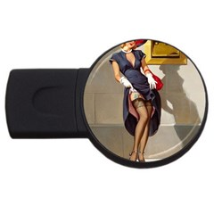 Retro Pin Up Girl 2gb Usb Flash Drive (round) by PinUpGallery