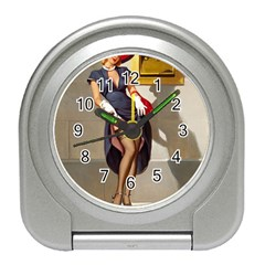 Retro Pin Up Girl Desk Alarm Clock by PinUpGallery