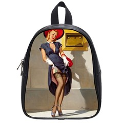 Retro Pin Up Girl School Bag (small) by PinUpGallery