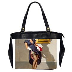 Retro Pin Up Girl Oversize Office Handbag (two Sides) by PinUpGallery