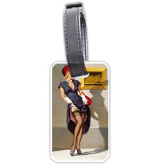 Retro Pin Up Girl Luggage Tag (one Side) by PinUpGallery