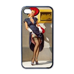 Retro Pin Up Girl Apple Iphone 4 Case (black) by PinUpGallery