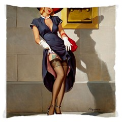 Retro Pin Up Girl Large Cushion Case (two Sides) by PinUpGallery