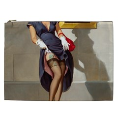 Retro Pin Up Girl Cosmetic Bag (xxl) by PinUpGallery