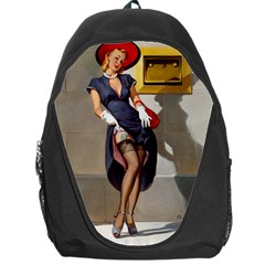 Retro Pin Up Girl Backpack Bag by PinUpGallery