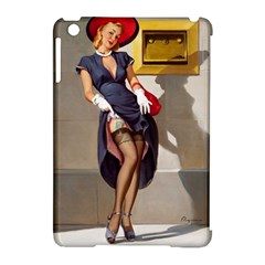 Retro Pin-up Girl Apple iPad Mini Hardshell Case (Compatible with Smart Cover)