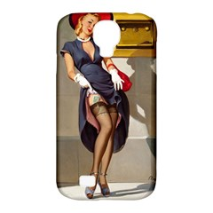 Retro Pin Up Girl Samsung Galaxy S4 Classic Hardshell Case (pc+silicone) by PinUpGallery