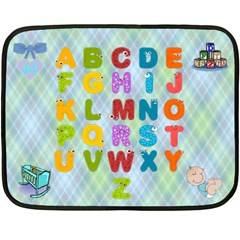 Boy s Abc Mini Blanket By Joy Johns   Double Sided Fleece Blanket (mini)   A4lex7avhsat   Www Artscow Com 35 x27 Blanket Front
