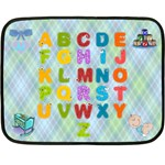 Boy s ABC mini blanket - Double Sided Fleece Blanket (Mini)
