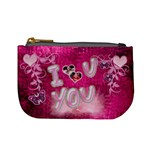 Hot Pink heart floral 2nd coin purse - Mini Coin Purse