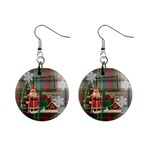 Remember When Santa Christmas button earrings - 1  Button Earrings