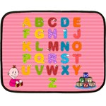 Girls  ABC mini blanket 2 - Double Sided Fleece Blanket (Mini)