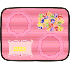 Girls  Abc Mini Blanket 2 By Joy Johns   Double Sided Fleece Blanket (mini)   Vxzyru2bvcai   Www Artscow Com 35 x27 Blanket Back